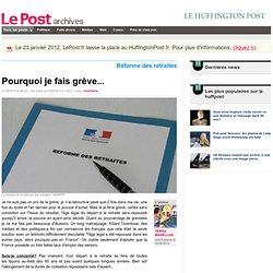 Pourquoi je fais grève... - TERRA MAGELLAN sur LePost.fr