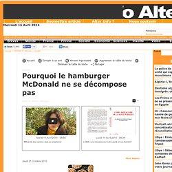 Pourquoi le hamburger McDonald ne se décompose pas
