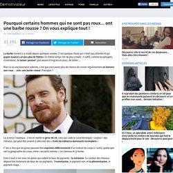 Pourquoi certains hommes qui ne sont pas roux... ont une barbe rousse ? On vous explique tout !