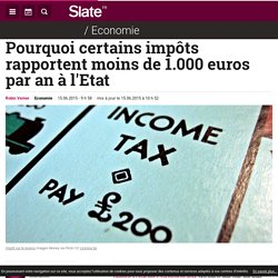 Pourquoi certains impôts rapportent moins de 1.000 euros par an à l'Etat
