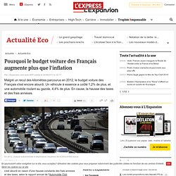 Pourquoi le budget voiture des Français augmente plus que l'inflation