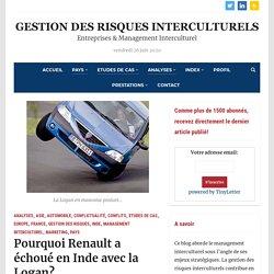 Pourquoi Renault a échoué en Inde avec la Logan? – Gestion des Risques Interculturels