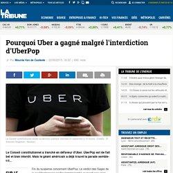 Pourquoi Uber a gagné malgré l'interdiction d'UberPop
