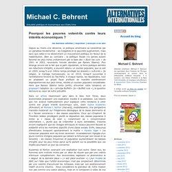 les pauvres contre leurs intérêts économiques ? -Michael C. Behrent
