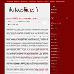 Interfaces riches > Pourquoi HTML5 et Flash ne peuvent être comparés