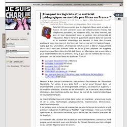 Pourquoi les logiciels et le matériel pédagogique ne sont-ils pas libres en France