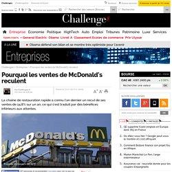 Pourquoi les ventes de McDonald's reculent - 23 janvier 2015