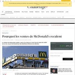 Pourquoi les ventes de McDonalds reculent