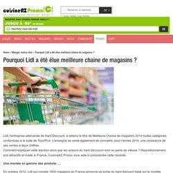Pourquoi Lidl a été élue meilleure chaine de magasins ?