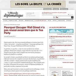 Pourquoi Occuper Wall Street n'a pas réussi aussi bien que le Tea Party