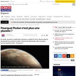 Pourquoi Pluton n'est plus une planète ? - 6 juin 2016