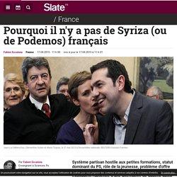 Pourquoi il n'y a pas de Syriza (ou de Podemos) français