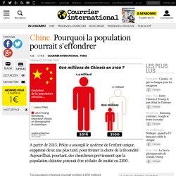 Chine. Pourquoi la population pourrait s'effondrer
