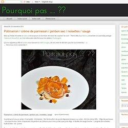 Potimarron / crème de parmesan / jambon sec / noisettes / sauge