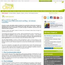 Pourquoi une PME doit avoir un blog : 10 raisons concrètes