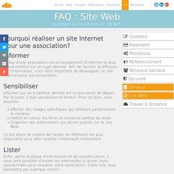 Pourquoi réaliser un site Internet pour une association?