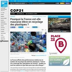 FRANCE - Pourquoi la France est-elle mauvaise élève en recyclage des plastiques?