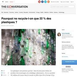 Pourquoi ne recycle-t-on que 22% des plastiques ?