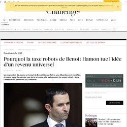 Pourquoi la taxe robots de Benoît Hamon tue l'idée d'un revenu universel