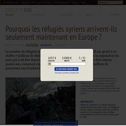 Pourquoi les réfugiés syriens arrivent-ils seulement maintenant en Europe ?