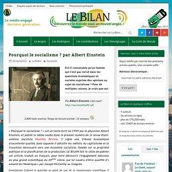 Pourquoi le socialisme ? par Albert Einstein