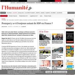Pourquoi y a-t-il toujours autant de SDF en France?