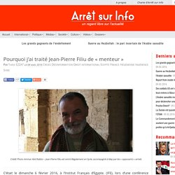 Jean-Pierre Filiu porte parole du quai d'Orsay