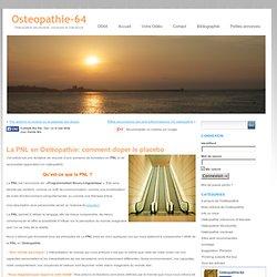 Pourquoi utiliser la PNL en Ostéopathie