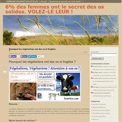 6% Des Femmes Ont Le Secret Des Os Solides. VOLEZ-LE LEUR !