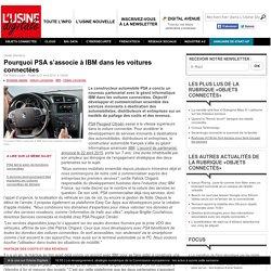 Pourquoi PSA s'associe à IBM dans les voitures connectées