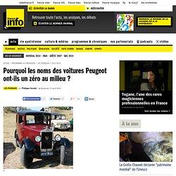 Pourquoi les noms des voitures Peugeot ont-ils un zéro au milieu ?