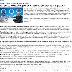 Eureka … voilà pourquoi Lean startup est vraiment important !