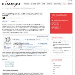Pourquoi Wikipédia est tout le temps en premier sur Google ?
