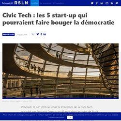 Civic Tech : les 5 start-up qui pourraient faire bouger la démocratie