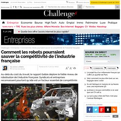 Compétitivité : les robots sont-ils notre seul espoir ?