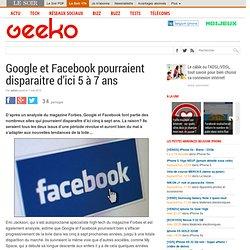 Google et Facebook pourraient disparaitre d'ici 5 à 7 ans