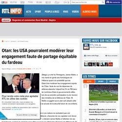 Otan: les USA pourraient modérer leur engagement faute de partage équitable du fardeau
