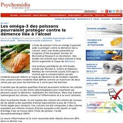 Les oméga-3 des poissons pourraient protéger contre la démence liée à l'alcool