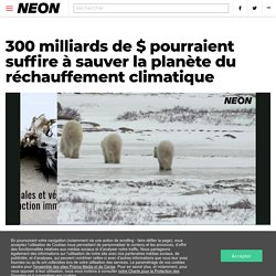 300 milliards de $ pourraient suffire à sauver la planète du réchauffement climatique