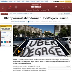 Uber pourrait abandonner UberPop en France
