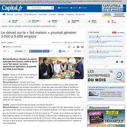 CAPITAL 15/07/14 Le décret sur le « fait maison » pourrait générer 3.000 à 5.000 emplois