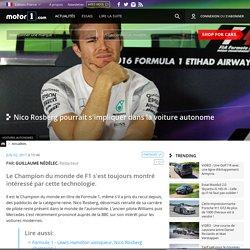 Nico Rosberg pourrait s'impliquer dans la voiture autonome