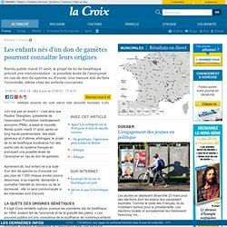 Les enfants nés d'un don de gamètes pourront connaître leurs origines - France - la-Croix.com