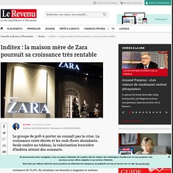 Inditex : la maison mère de Zara poursuit sa croissance très rentable