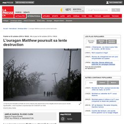 L'ouragan Matthew poursuit sa lente destruction