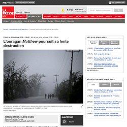 L'ouragan Matthew poursuit sa lente destruction