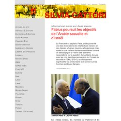 Laurent Fabius émissaire israelien