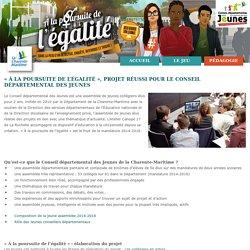 « À la poursuite de l'égalité », projet réussi pour le Conseil départemental des jeunes - Égalité Fille/Garçon