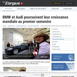 BMW et Audi poursuivent leur croissance mondiale au premier semestre – L'argus PRO