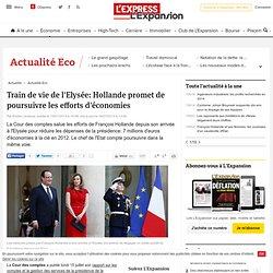 Comment François Hollande a réduit le train de vie de l'Elysée